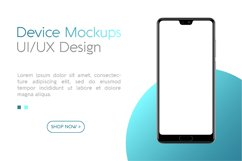 Smartphone mockup with blank screen UI / UX design Product Image 1