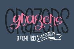 Grazers - A Script Print & Doodle Font Trio! Product Image 1