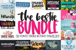 The Bestie Bundle - 30 Font Bundle! Craft friendly fonts! Product Image 1