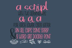 Grazers - A Script Print & Doodle Font Trio! Product Image 4