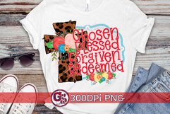 Easter   Chosen Blessed Forgiven Redeemed PNG For Sublim Product Image 1