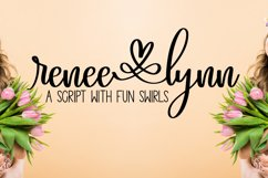 Renee Lynn - A Script With Fun Swirls and Swooshes Product Image 1
