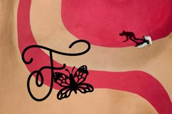 A Butterfly Monogram Font Product Image 4