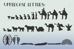 Christmas Dingbat Font   Nativity Font Product Image 6