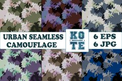 6 Seamless Military Urban Camouflage Product Image 1