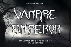 Vampire Emperor - Halloween Display Font Product Image 1