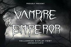 Web Font Vampire Emperor - Halloween Display Font Product Image 1