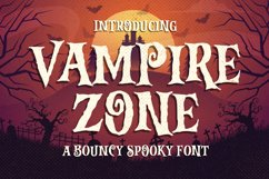 Vampire Zone a Bouncy Spooky Font Product Image 1