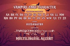 Vampire Zone a Bouncy Spooky Font Product Image 5