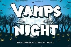 Web Font Vamps Night - Halloween Display Font Product Image 1