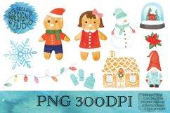 Christmas Sublimation Watercolor Clipart Bundle Part 2 Product Image 1