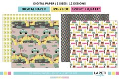 Village vacations digital papers | Summer holidays printable Product Image 5