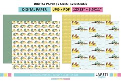 Village vacations digital papers | Summer holidays printable Product Image 4