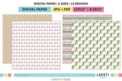 Village vacations digital papers | Summer holidays printable Product Image 6