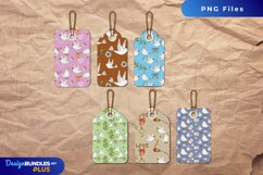 Vintage Dove Seamless Pattern Shaped Tag Product Image 1