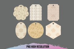 Vintage Floral Pattern Shaped Tags Product Image 1
