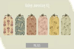 Vintage Jellyfish Seamless Pattern Shaped Tag Product Image 1