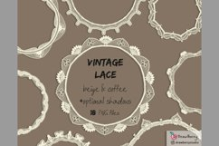 Vintage Lace Overlay Clipart Beige PNG | Drawberry CP073 Product Image 2