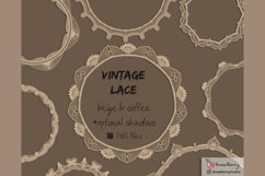 Vintage Lace Overlay Clipart Beige PNG | Drawberry CP073 Product Image 3