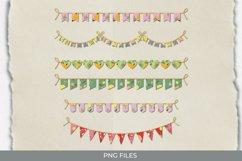 Vintage Orange Seamless Pattern Bunting Banner Product Image 1
