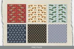 Vintage Racing Car Seamless Pattern Paper Packs Product Image 1