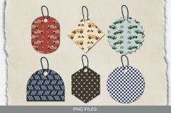 Vintage Racing Car Seamless Pattern Shaped Tags Product Image 1