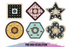 Vintage Typewriter Seamless Pattern with Buttons Product Image 1