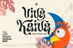 Viva Kaiva - Unique Psychedelic Font Product Image 1
