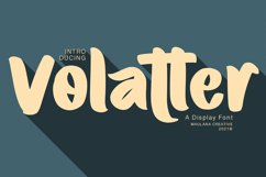 Volatter Display Font Product Image 1