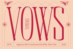 Vows Display Font Product Image 1
