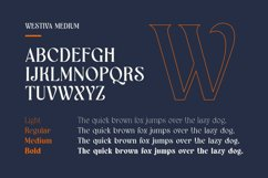 Westiva - Elegant Display Fonts Family Product Image 5
