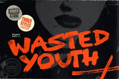 Wasted Youth: A 90s Grunge Inspired Brush Font Product Image 1