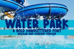 Web Font Water Park - A Quirky Handlettered Font Product Image 1