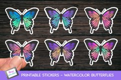 Printable butterfly stickers - watercolor