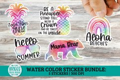 Summer Watercolor Sticker Bundle   print and cut stickers Product Image 1