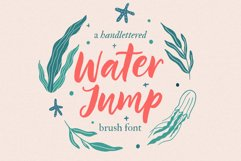 Water Jump / brush script Product Image 1