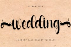 Wedding - A Modern Calligraphy Font Product Image 1