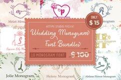 The Wedding Monogram Font Bundle Product Image 1