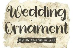 Wedding Ornament - Stylish Decoration Font Product Image 1
