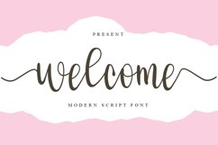 Welcome - Modern Script Font Product Image 1