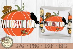 welcome fall sign-pumpkin svg-autumn svg-fall decorations-crow-scarecrow