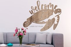 Welcome Sea Turtle Sign SVG Glowforge File Laser Cut Files Product Image 3