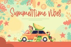 Web Font Welcome Sunshine - Summer Handwritten Font Product Image 4