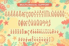 Web Font Welcome Sunshine - Summer Handwritten Font Product Image 5