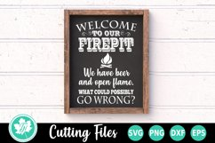 Camping SVG | Welcome to our Firepit SVG Product Image 1