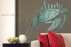 Welcome Sea Turtle Sign SVG Glowforge File Laser Cut Files Product Image 4