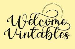 Welcome Vintables - Modern Script Font Product Image 1