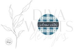 Welcome Winter Plaid SVG   Christmas Round Design Product Image 2