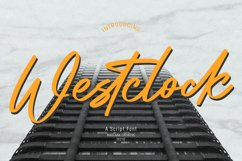 Westclock Script Font Product Image 1