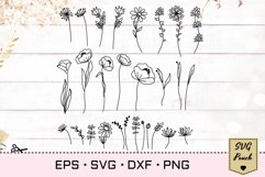 Wildflowers SVG Bundle set Product Image 6